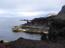 Coastline of Jan Mayen island. The Arctic Stock Images
