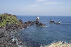 Coastline of Jeju Island, South Korea Stock Images