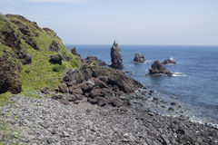 Coastline of Jeju Island, South Korea Royalty Free Stock Image