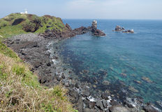 Coastline of Jeju Island, South Korea Royalty Free Stock Photography
