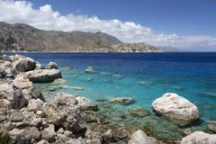 Coastline on Karpathos island, Greece Royalty Free Stock Photo