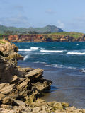 The coastline in Kauai Hawaii Stock Images