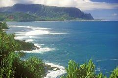 Coastline of Kauai, Hawaii Stock Photos