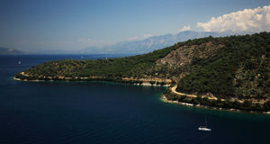 The coastline of Kefalonia Stock Photography