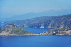 Coastline of Kefalonia, Greece Royalty Free Stock Photography
