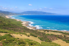 Coastline of Kenting National Park, South Taiwan Royalty Free Stock Image