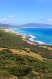Coastline of Kenting National Park, South Taiwan Royalty Free Stock Images
