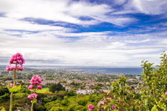 Coastline by Killiney near Dublin. View on coastline by Killiney near Dublin in Ireland Stock Photos