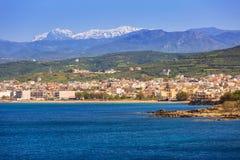 Coastline of Kissamos town on Crete Stock Image