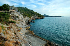 Coastline Koh Sri Chai. The Coastline in Koh Sri Chai royalty free stock photography