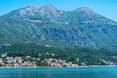 Coastline in Kotor, Montenegro Royalty Free Stock Image
