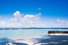 Coastline in Kurumba, Maldives Stock Image