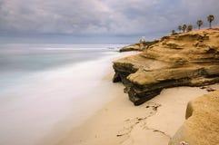 Long exposure La Jolla coast Stock Image