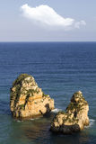 Coastline of Lagos in the Algarve, Portugal Royalty Free Stock Photo