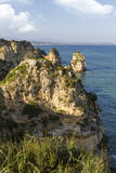 Coastline of Lagos in the Algarve, Portugal Stock Photo