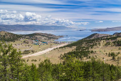 Coastline of Lake Baikal in Russia. Small village on the coast of Lake Baikal, Russia Royalty Free Stock Images