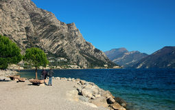 Coastline at Lake Garda Royalty Free Stock Image