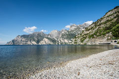 Coastline of Lake Garda Royalty Free Stock Images
