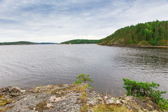 Coastline of lake Ladoga Stock Photos