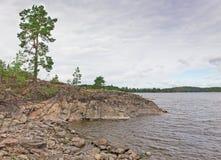 Coastline of lake Ladoga Royalty Free Stock Images