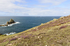 Coastline at Land End, Cornwall Stock Photos
