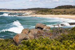 Coastline landscape. Bingie (near Morua). Australia Stock Photo