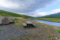 Coastline and landscape in the east fjords Royalty Free Stock Photos