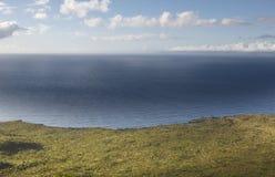 Coastline landscape with green vegetation and atlantic ocean in Stock Photos