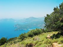 Coastline landscape of mediterranean sea turkey Stock Photos