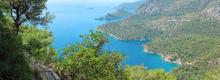 Coastline landscape of mediterranean sea turkey Royalty Free Stock Photography