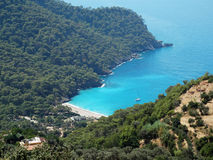 Coastline landscape of mediterranean sea turkey Royalty Free Stock Photo