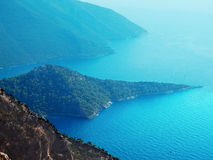 Coastline landscape of mediterranean sea turkey Stock Photo