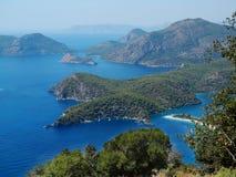 Coastline landscape of mediterranean sea turkey Royalty Free Stock Photography