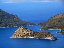 Coastline landscape of mediterranean sea turkey Stock Image