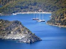 Coastline landscape of mediterranean sea turkey Royalty Free Stock Images