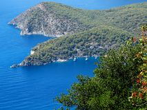 Coastline landscape of mediterranean sea turkey Stock Images