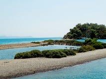 Coastline landscape of mediterranean sea turkey Royalty Free Stock Photos