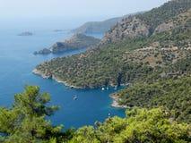 Coastline landscape of mediterranean sea turkey Stock Photography