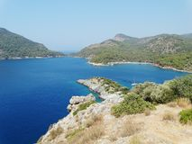 Coastline landscape of mediterranean sea turkey Royalty Free Stock Photos