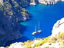 Coastline landscape of mediterranean sea turkey Stock Images