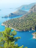Coastline landscape of mediterranean sea turkey Stock Photography