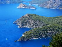 Coastline landscape of mediterranean sea turkey Royalty Free Stock Images