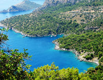 Coastline landscape of mediterranean sea turkey Stock Image