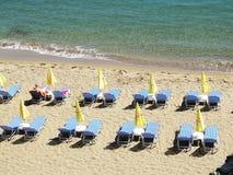 Coastline landscape of meditrannean sea Crete island greece Royalty Free Stock Image