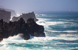Coastline of Lanzarote Stock Photography