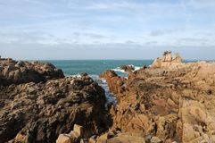 Coastline at Les Grandes Rocques, Guernsey Royalty Free Stock Image