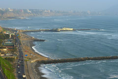 Coastline of Lima, Peru Royalty Free Stock Images