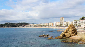 Coastline of Lloret De Mar Stock Photos