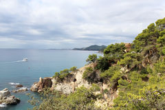 Coastline of Lloret De Mar Royalty Free Stock Photography