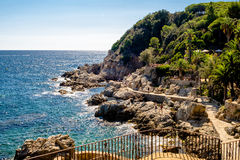 Coastline in Lloret de Mar. Catalonia Stock Image